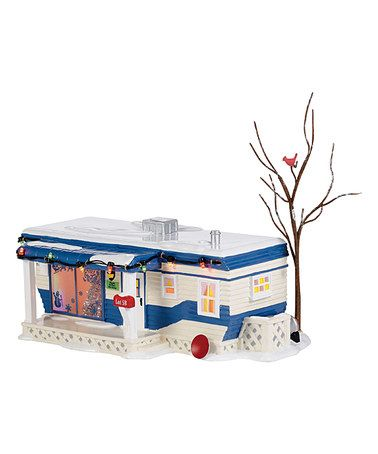 Lighted Snow Village 'Lot 58' Christmas Court Figurine #zulily #zulilyfinds