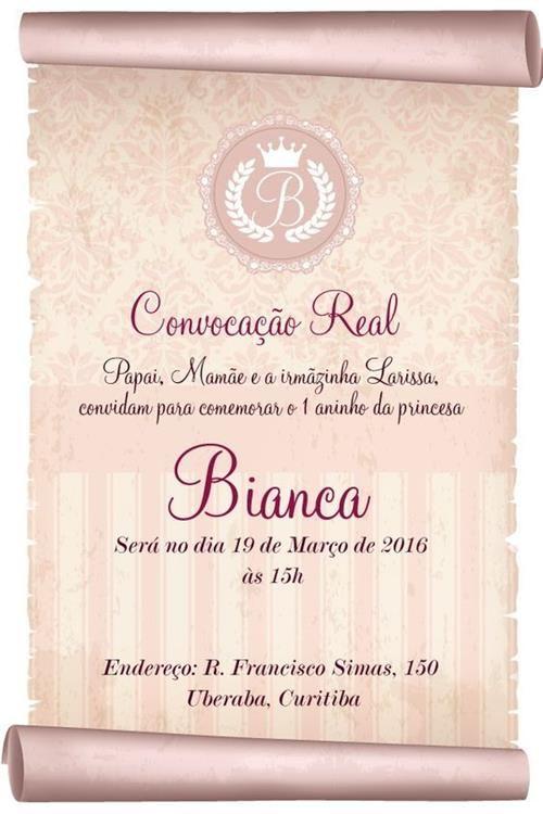 Convite Convocacao Real 9 Modelos Para Imprimir Com Imagens