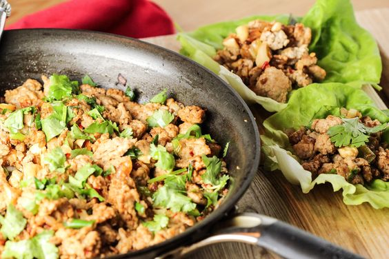 Turkey Cashew Lettuce Wraps