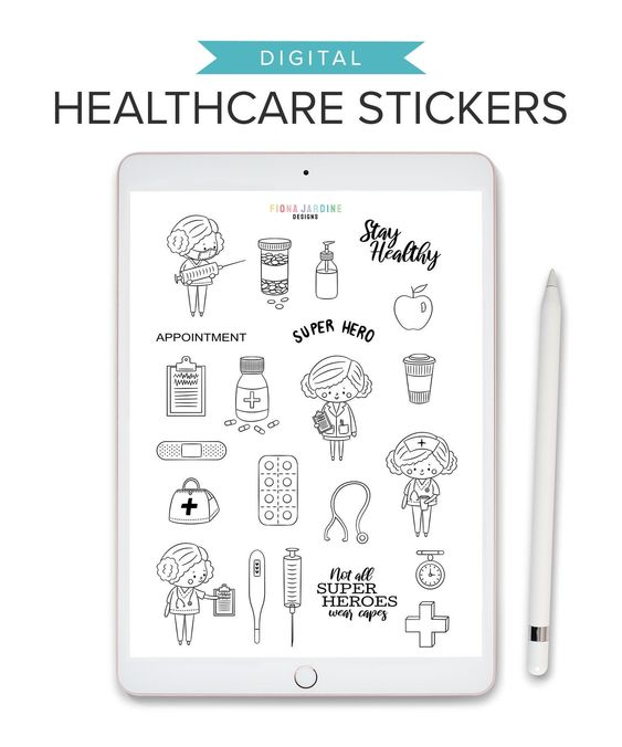 Band Aid Stickers Pill Sticker Health Stickers Medical Stickers Nurse Stickers Planner Accessories Planner Stickers Hospital Stickers
