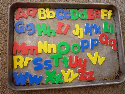 An old cookie sheet was an indispensable part of homeschooling my preschoolers and lower elementary kids.  It was a magnet board, a sensory play board (salt, shaving cream, sand), and an easy-to clean platform for science experiments.