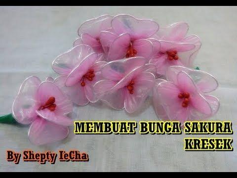 Tutorial Cara Membuat Bunga Sakura Dari Kresek Kantong Plastik