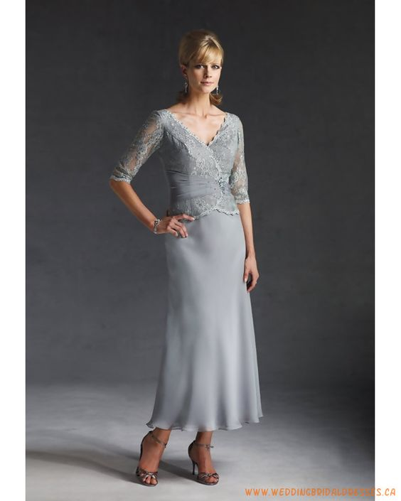 mother of the bride dresses tea length | Chiffon Lace Tea Length ...