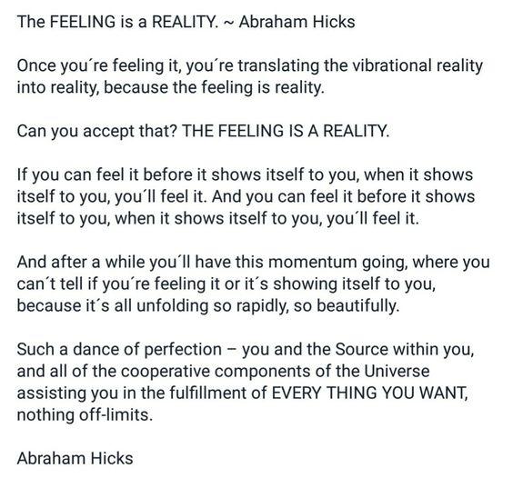 Feeling abundance of vibrational reality