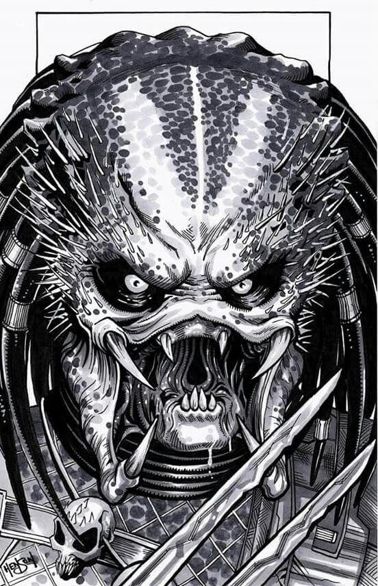 Pin By Phil Ponton On Yautja Predator Predator Alien Predator Art