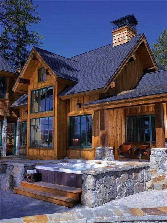 Hot tub patio ideas ideas backyard deck design for Outdoor jacuzzi ideas