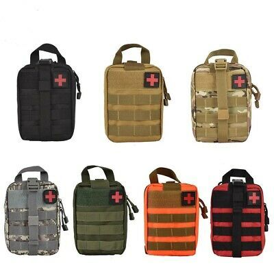 First Aid Bag Kit Medical Tactical Survival Kit Molle Rip-Away EMT Pouch IFAK