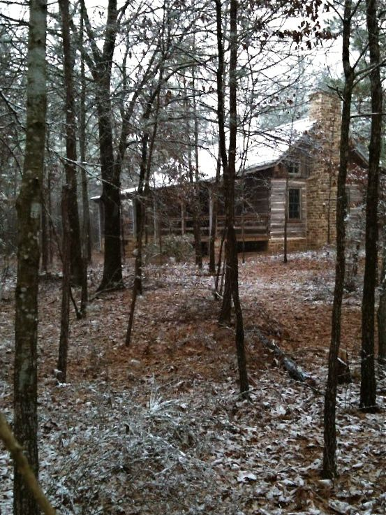 A log house deep in the east texas woods texas life Texas cabins in the woods