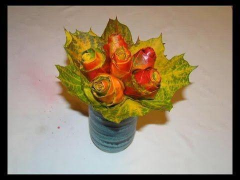 Jak Zrobic Kwiaty Z Lisci Leaf Flowers Diy Planter Pots