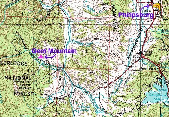 Retail Rocks And Gems Spokane | Above: Gem Mountain Sapphire Mine Near Phillipsburg in Granite County ...