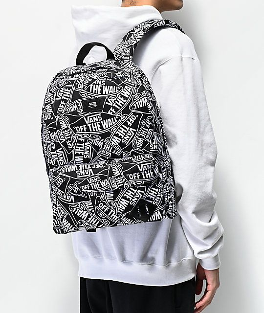 Vans Old Skool III Off The Wall Black & White Backpack in 2019