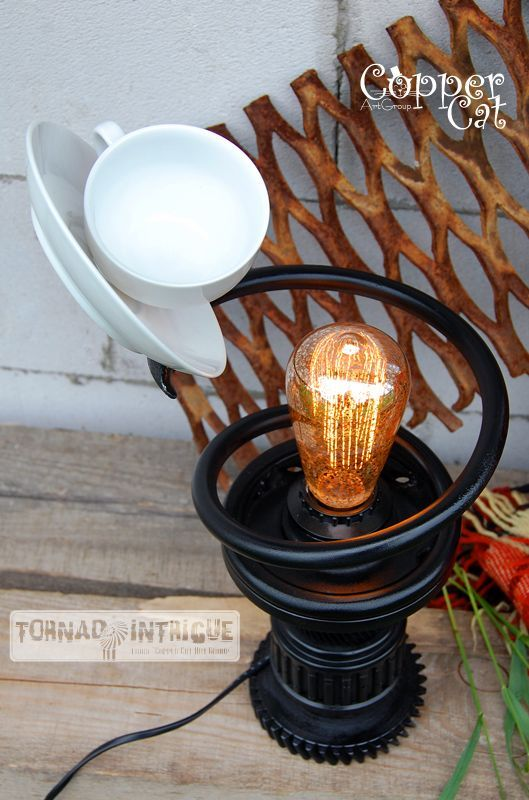 Cup Of Tea Steampunk Table Lamp