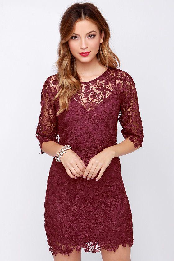 Colored lace dresses