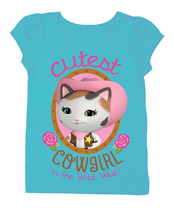 Aqua Sheriff Callie 'Cutest Cowgirl' Tee - Toddler & Girls by Disney Junior #zulily #zulilyfinds
