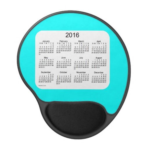 Aqua 2016 Calendar Gel Mouse Pad Design from Calendars by Janz