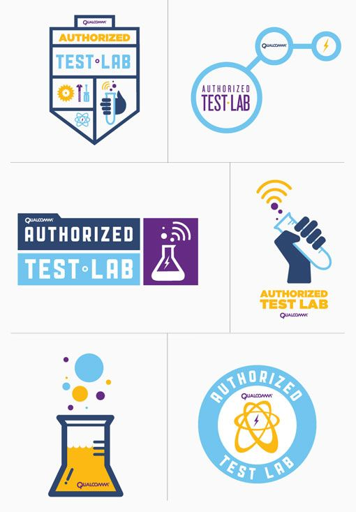 Qualcomm Authorized Test Labs Campaign by Abe Vizcarra: Campaign Design, Simple Icons, 02 Graphicdesign, Abe Vizcarra, Labs Campaign, Abevizcarra Qualcom, Brand Identity Logos