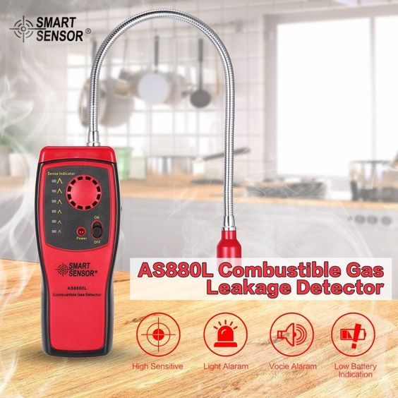 Universe Of Goods Buy Smart Sensor As8800l Combustible Gas Detector Flammable Natural Gas Leakage Tester Tool Methane Gas Leak Det Gas Detector Detector Gas