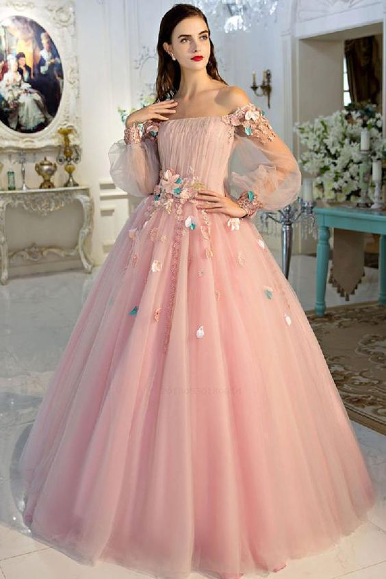 Long Prom Dresses Pink
