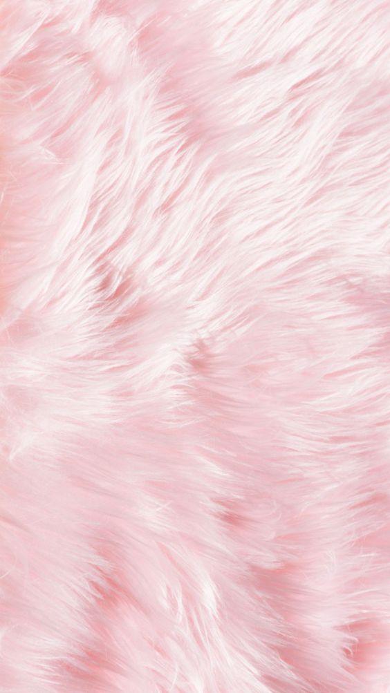 Fluffy fur pink iPhone wallpaper