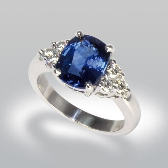 bague saphir bague de fiancaille bague joaillerie saphir diamants bijoux pinterest bijoux. Black Bedroom Furniture Sets. Home Design Ideas