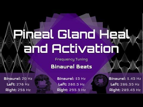 Pineal Gland Heal And Activate Decalcify Heal And Activate The Pineal Gland Binaural Beats Youtube Pineal Gland Gland Healing