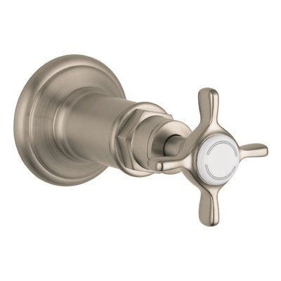 Axor Volume Control Faucet Trim With Cross Handle Finish