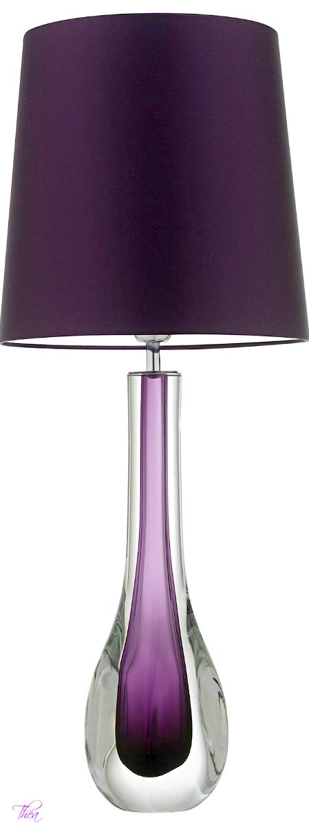 Purple lamp...beautiful! Would look so great in my litlle house!