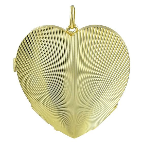 Large Heavy Gold Four-Picture Heart Locket  | From a unique collection of vintage more jewelry at https://www.1stdibs.com/jewelry/more-jewelry-watches/more-jewelry/