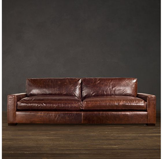 6 Maxwell Leather Sofa Sofas Restoration Hardware