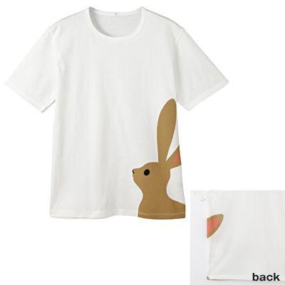 """Muji net store T-shirt """"rabbit"""""""