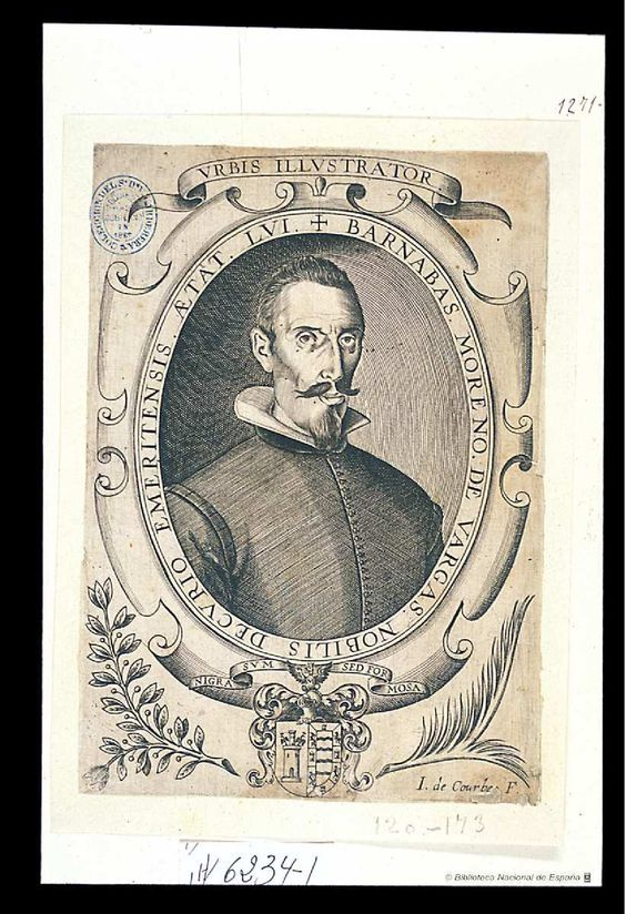 [Retrato de Bernabé Moreno de Vargas]. Courbes, Jean de (ca. 1592-ca. 1641) — Grabado — ?