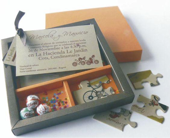 Caja con rompecabezas invitaci n personalizable incluye caja con medidas 15x15 cm 1 tarjeta - Caja rompecabezas ...