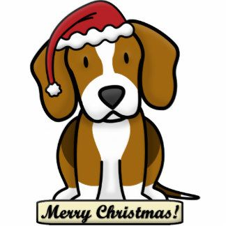 Beagle Cartoon Christmas Clipart Cartoon Dog Cartoon Painting