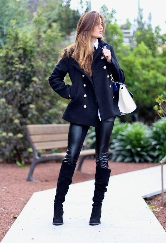 Современный и модный уличный стиль  зимой.