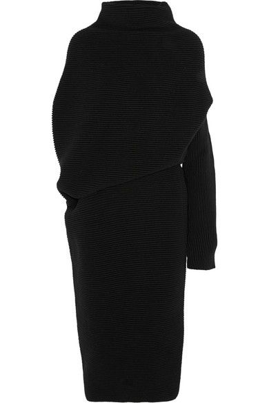 Acne Studios Gala asymmetric wool dress