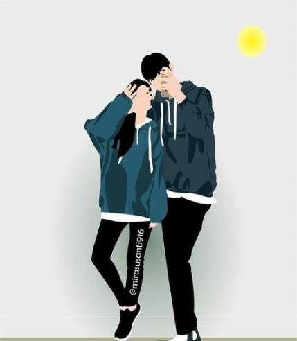 40 Super Ideas For Wallpaper Couple Iphone Beaches Cute Couple Art Cute Couple Drawings Cute Couple Wallpaper