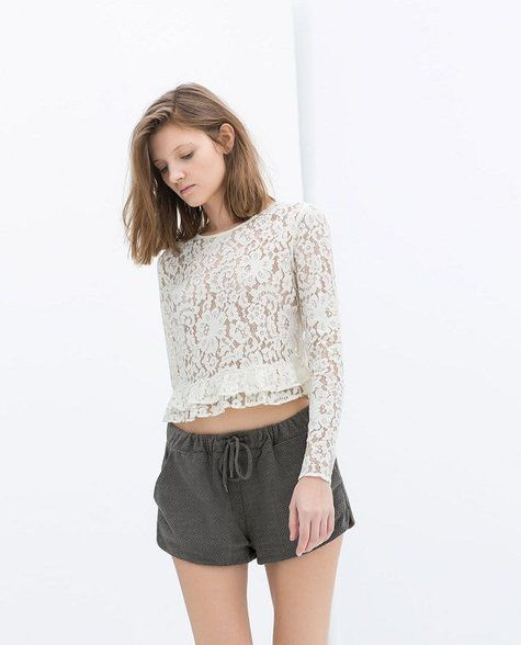 KCLOTH Crochet Flower Lace Top with Detailed T1767 #KCloth
