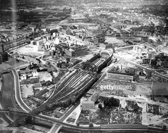 Luftaufnahme Askanischer Platz nach 1945
