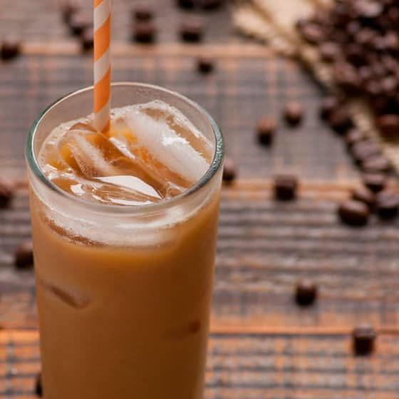 Healthy Iced Coffee Recipe With Almond Milk Sugar Free Low Calorie And Much Cheaper And Healthier Than Healthy Iced Coffee Almond Milk Coffee Almond Recipes