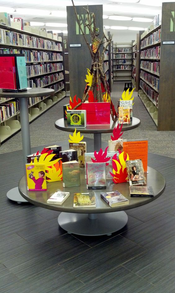 2013 Banned Books display 1; Lake Jackson Branch Library