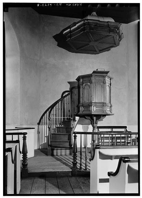 8 interior detail of pulpit with sounding board. Black Bedroom Furniture Sets. Home Design Ideas
