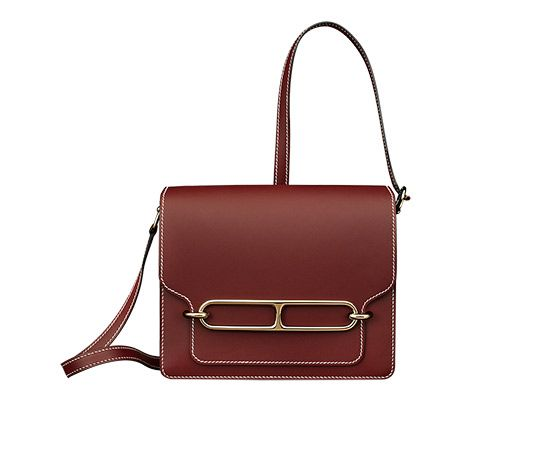 replica hermes bag - Roulis Hermes shoulder bag in Hermes red sombrero calfskin ...