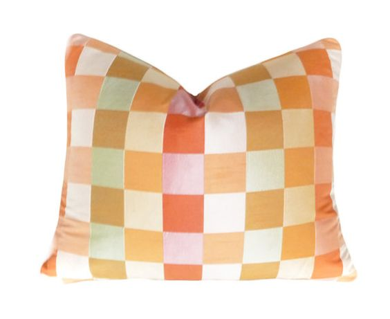 Colorful Pastel Orange Decorative Pillow by PillowThrowDecor, $26.00