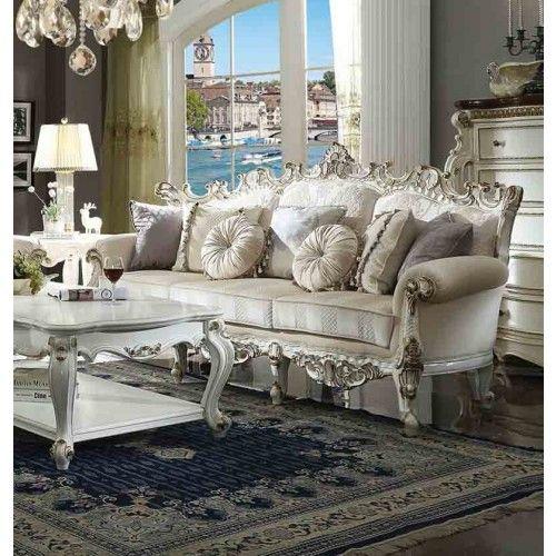 Acme Furniture Picardy Ii Antique Pearl Sofa 53460 Furniture Living Room Sets Sofa Furniture