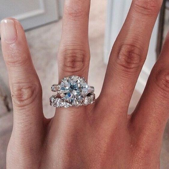 Certified 2.75CT Round White Diamond Engagement Wedding Ring in 14k White Gold