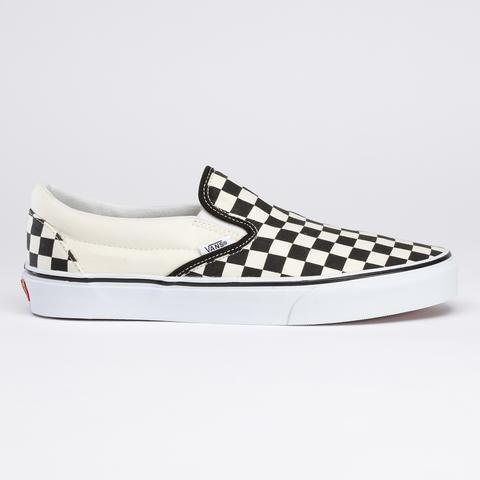 Checkerboard Slip-on Vans. I've been we wearing Vans since the early 70's. I still love them.