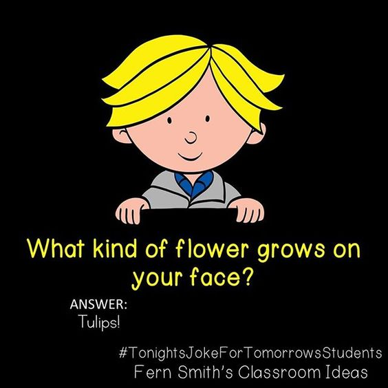 What kind of flower grows on your face?