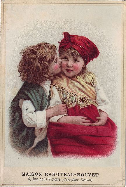 CHROMO MAISON RABTEAU-BOUVET - BOY KISSING GIRL - VERGER | Flickr - Photo Sharing!