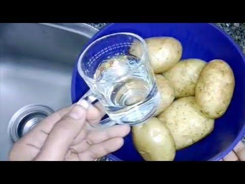 نص كوب تقشر ١٠ كيلو بطاطس بسرعه بدون سكين حيل وافكار مطبخيه49 Youtube Home Remedies Vegetables Potatoes