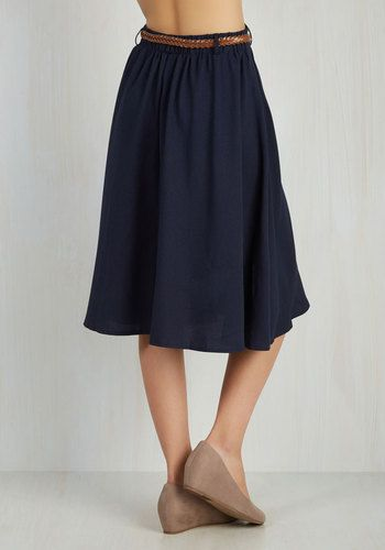 Breathtaking Tiger Lilies Skirt in Navy | Mod Retro Vintage Skirts | ModCloth.com